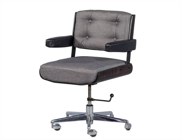 Enjoyable Set Of Three Mid Century Office Chair Set By Alain Richard Pabps2019 Chair Design Images Pabps2019Com