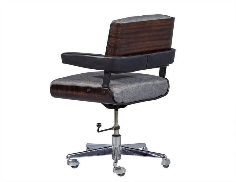 Surprising Set Of Three Mid Century Office Chair Set By Alain Richard Pabps2019 Chair Design Images Pabps2019Com