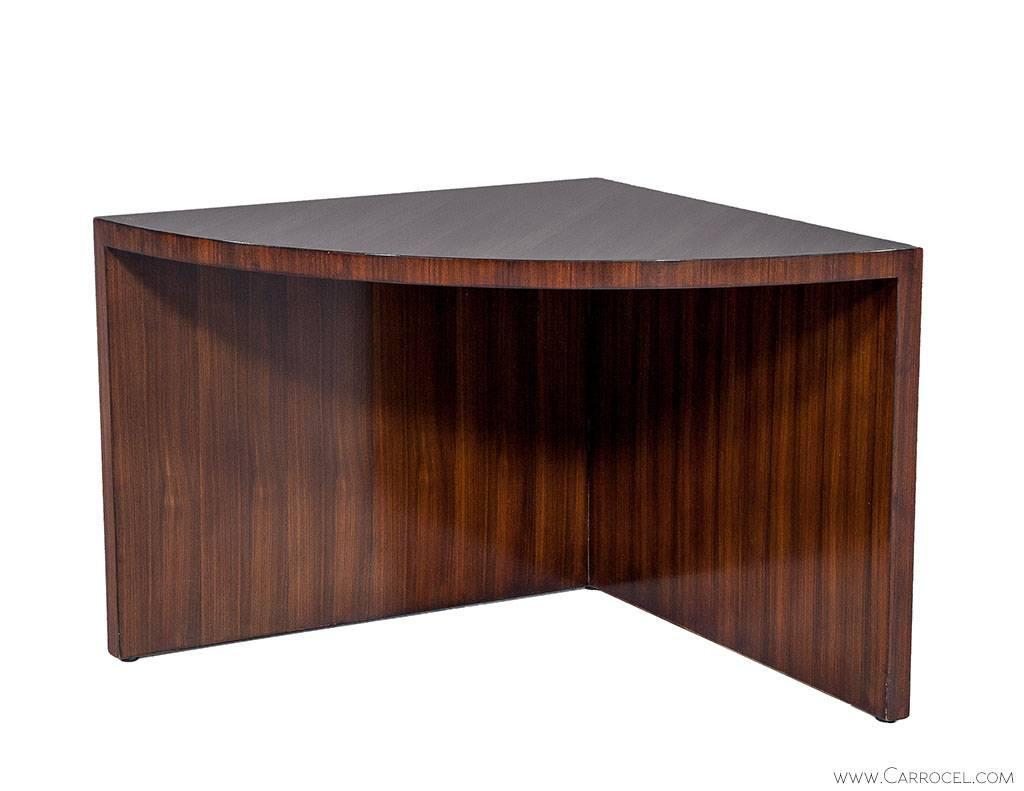 Duke Modern Mahogany Cocktail Table With Nesting Tables At 1stdibs
