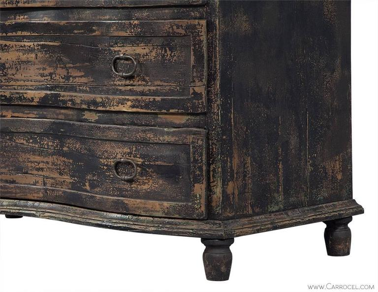 St Germain Distressed Black Rustic Chest at 1stdibs