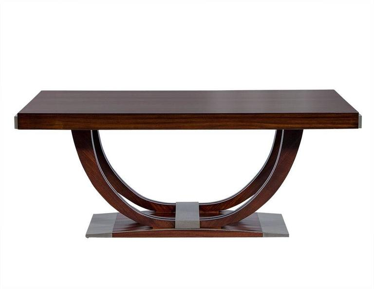 french art deco rosewood dining table circa 1940 2 art deco rosewood dining