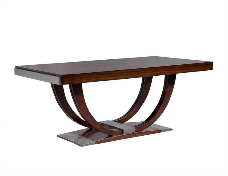 french art deco rosewood dining table circa 1940 3 art deco rosewood dining