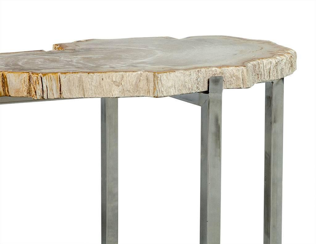Petrified Wood Side Table ~ Petrified wood accent table for sale at stdibs