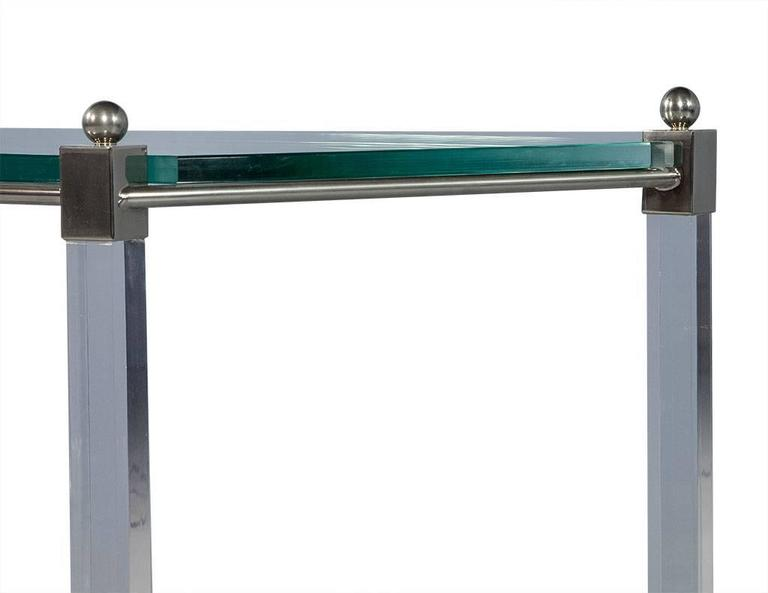 Angular French Lucite and Glass Console 4