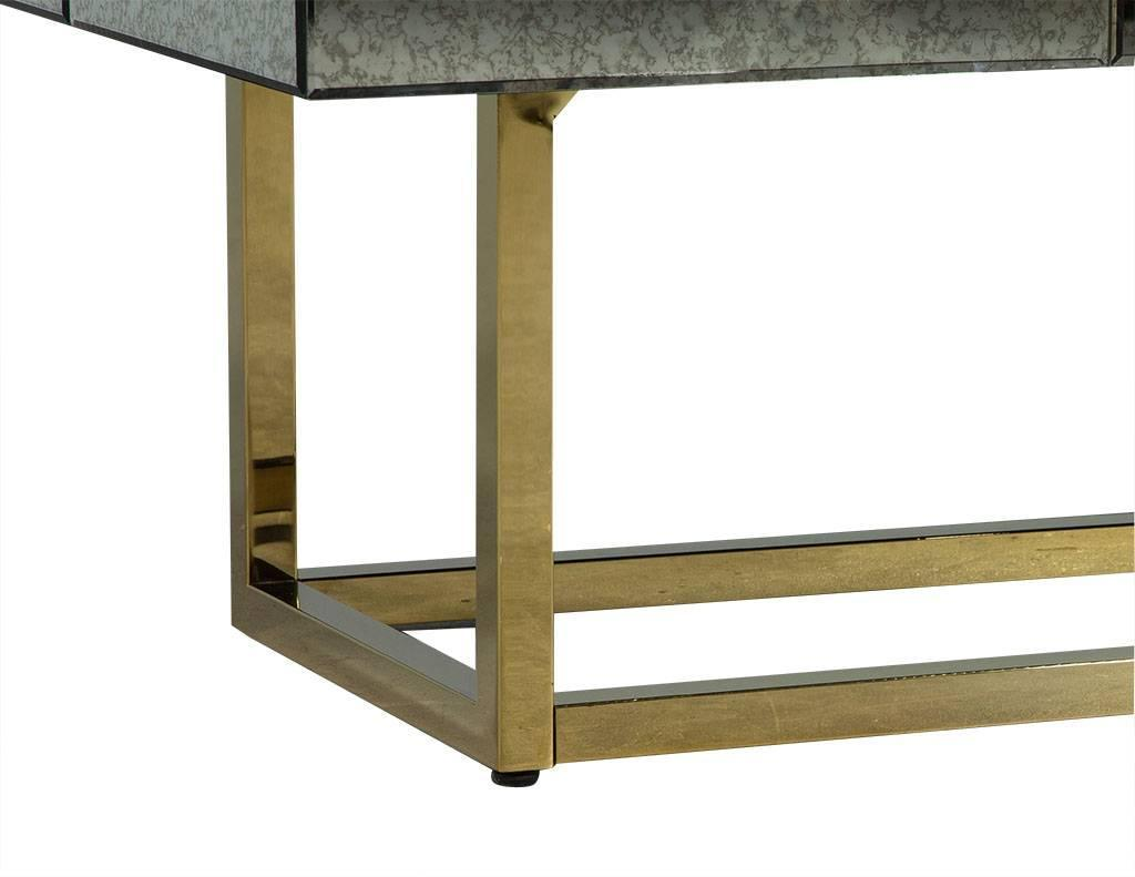 Retro Mirrored Glass Cocktail Table For Sale At 1stdibs