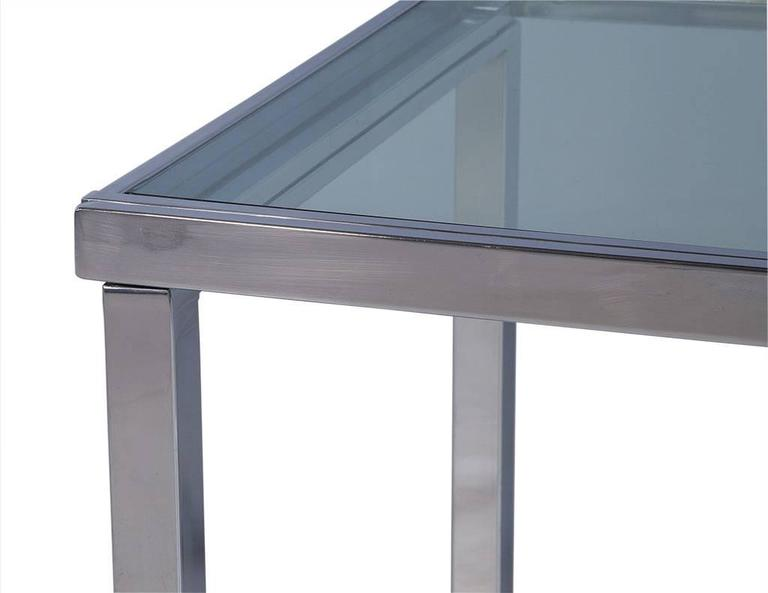 Sleek Glass and Chrome Extendable Kitchen Table