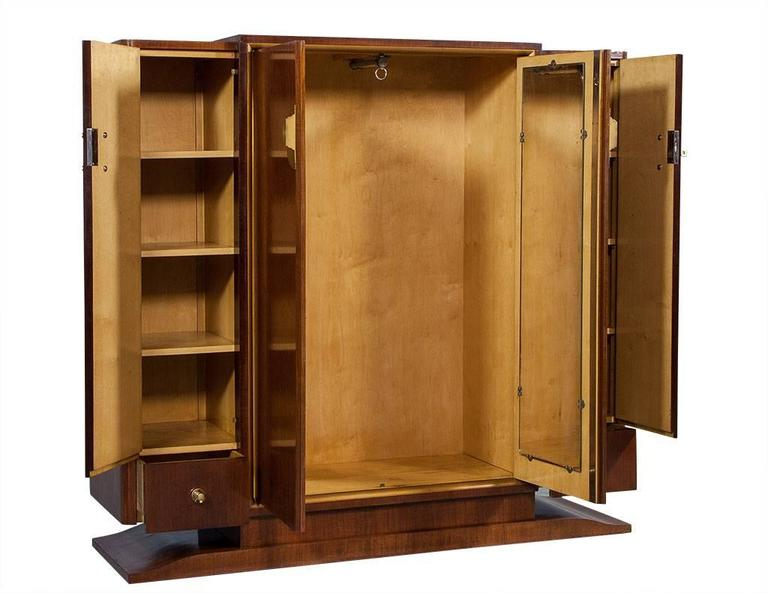 french art deco rosewood armoire for sale at 1stdibs. Black Bedroom Furniture Sets. Home Design Ideas