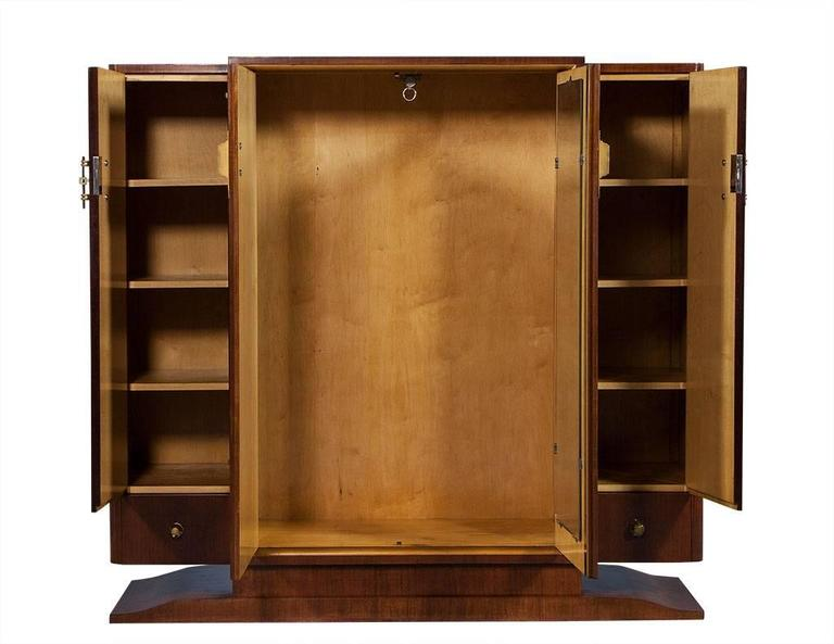 French Art Deco Rosewood Armoire 2