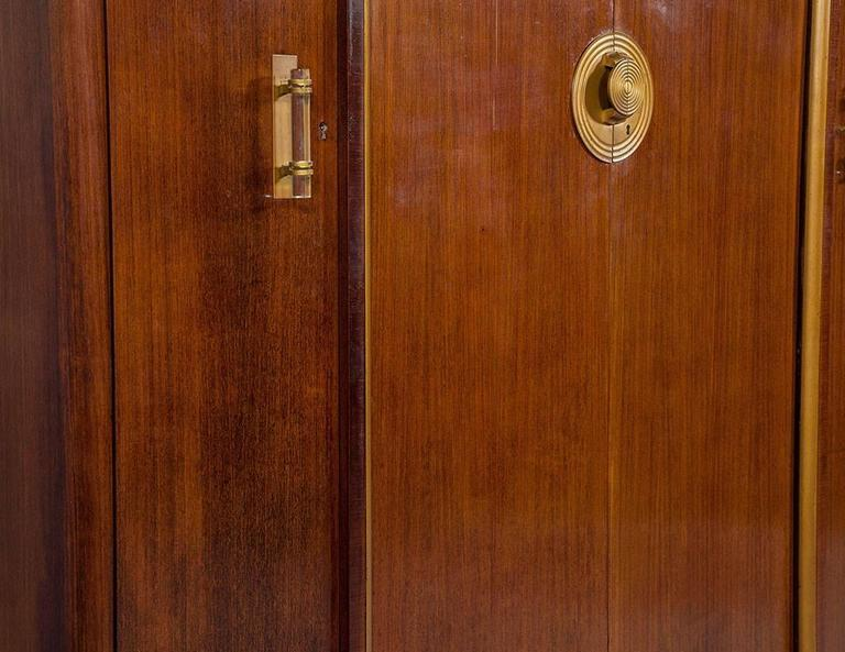 French Art Deco Rosewood Armoire For Sale 3