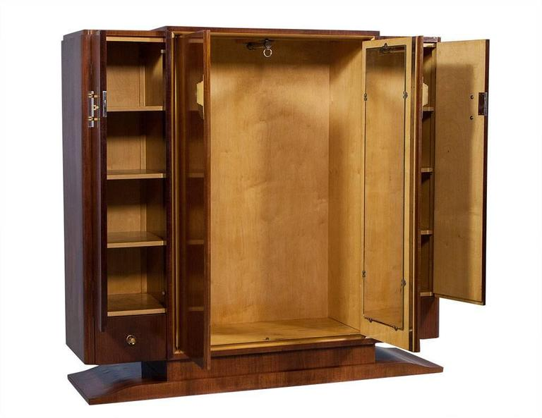 French Art Deco Rosewood Armoire 6