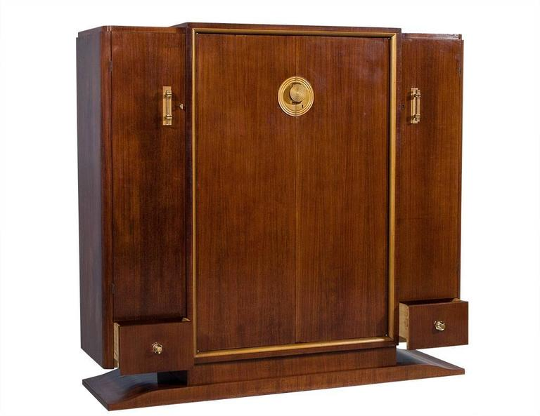 French Art Deco Rosewood Armoire 4