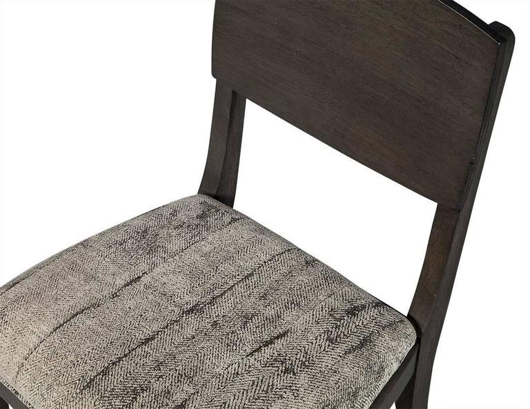Set of Six Art Deco Dining Chairs in Grey 1