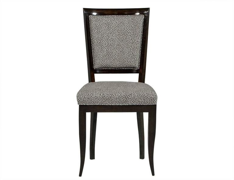 French Set of Six Graphic Art Deco Dining Chairs