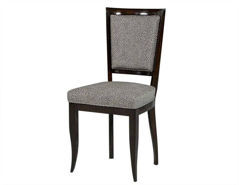 Set of Six Graphic Art Deco Dining Chairs In Excellent Condition In North York, ON