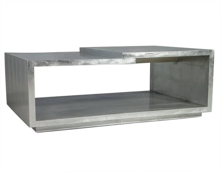 Modern Silver Leafed Cocktail Table 3