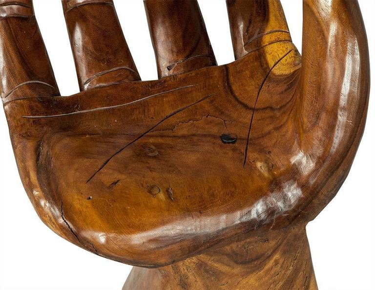 Pedro Friedeberg Style Carved Hand Chair At 1stdibs