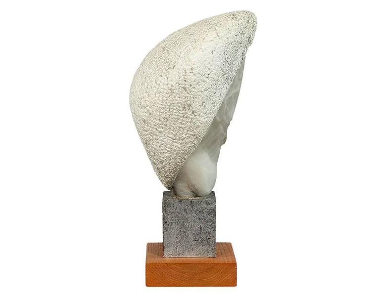 Canadian Hand-Carved Stylized Stone Sculpture by Daniel Pokorn For Sale