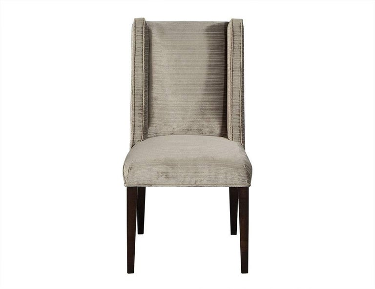 Modern Set of Eight Carrocel Custom Mabel Dining Chairs For Sale