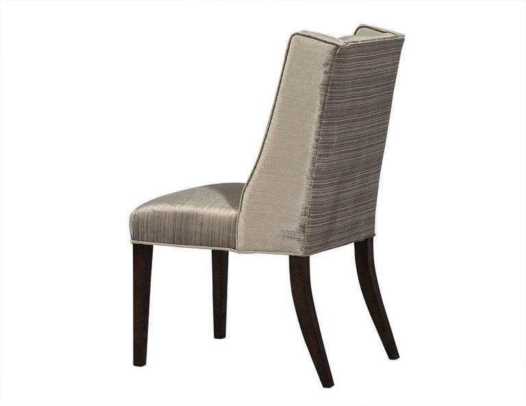 Contemporary Set of Eight Carrocel Custom Mabel Dining Chairs For Sale