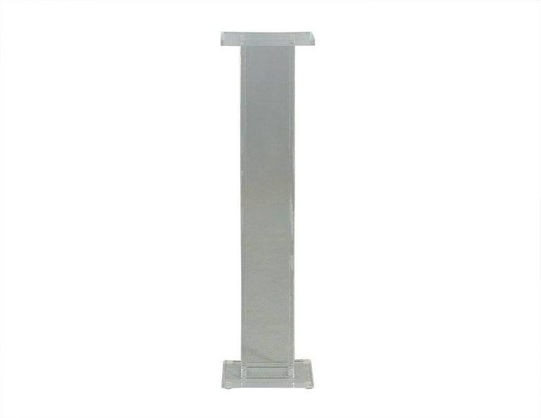 Vintage Acrylic Pedestal Set At 1stdibs