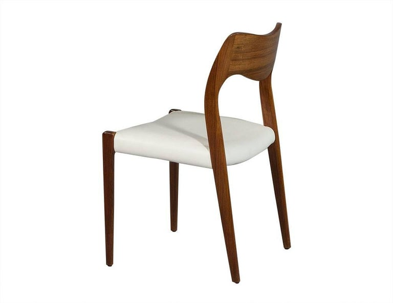 Set of Four in the Manner of Niels O. Moller #71 Rosewood Dining Chairs 3