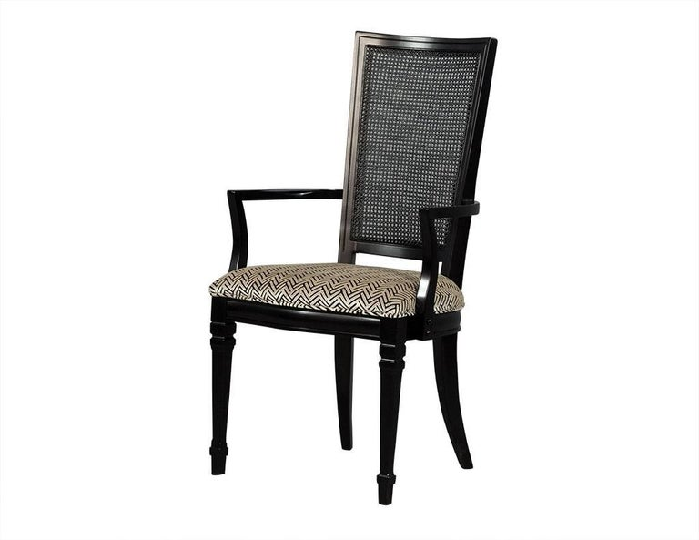 Mid-20th Century Set of Six Louis XVI Style Cane Back Dining Chairs For Sale