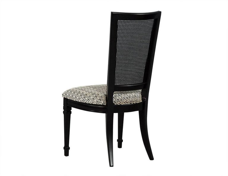 Set of Six Louis XVI Style Cane Back Dining Chairs For Sale 2