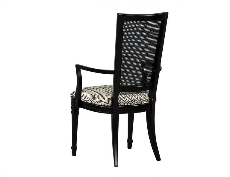 Set of Six Louis XVI Style Cane Back Dining Chairs For Sale 3