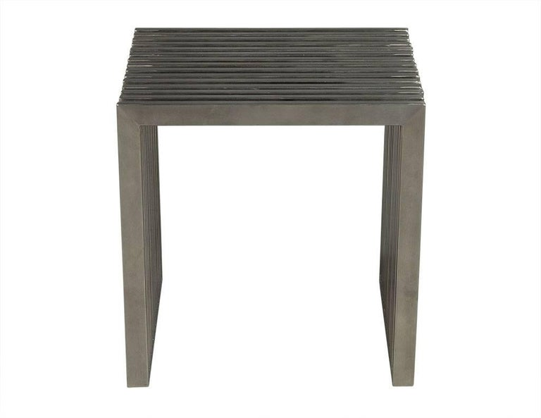 Stainless Steel Accent Side Table For Sale At 1stdibs