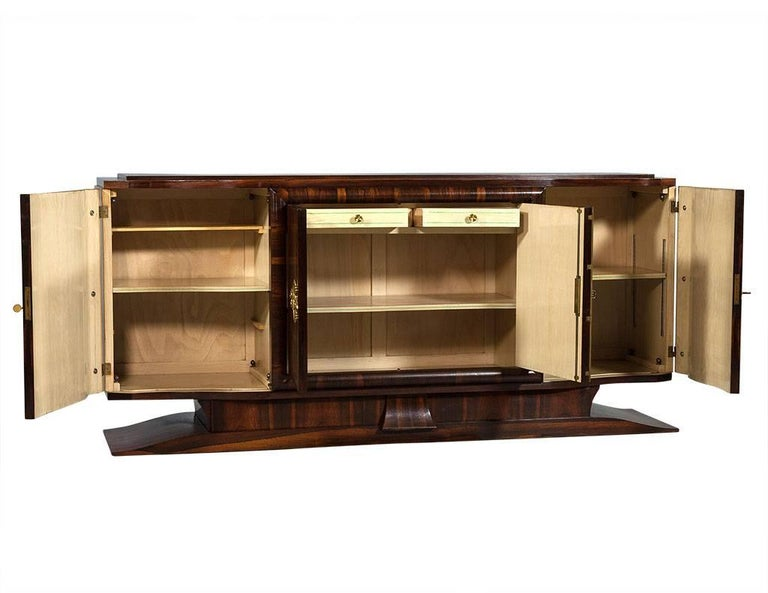 Vintage Art Deco Macassar Sideboard Buffet In Excellent Condition In North York, ON