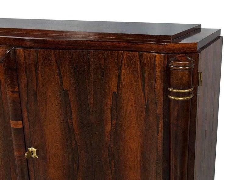 Mid-20th Century Vintage Art Deco Macassar Sideboard Buffet