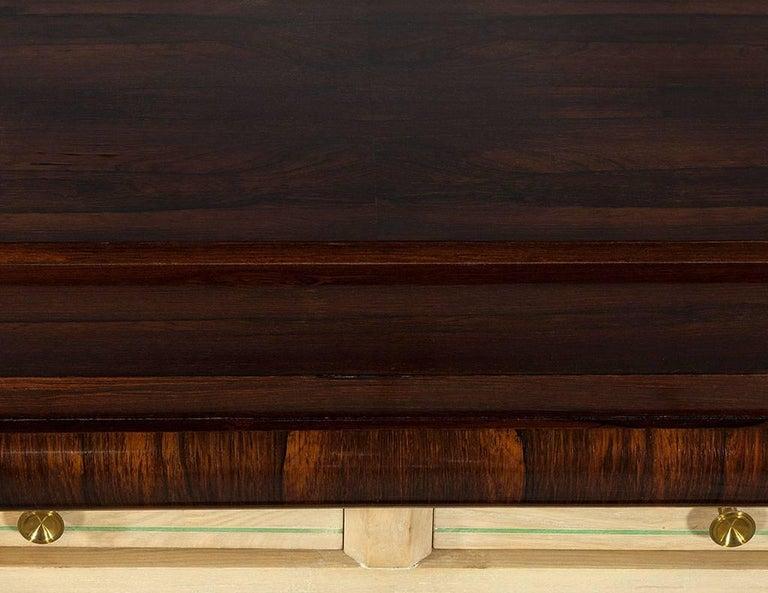 Vintage Art Deco Macassar Sideboard Buffet 1