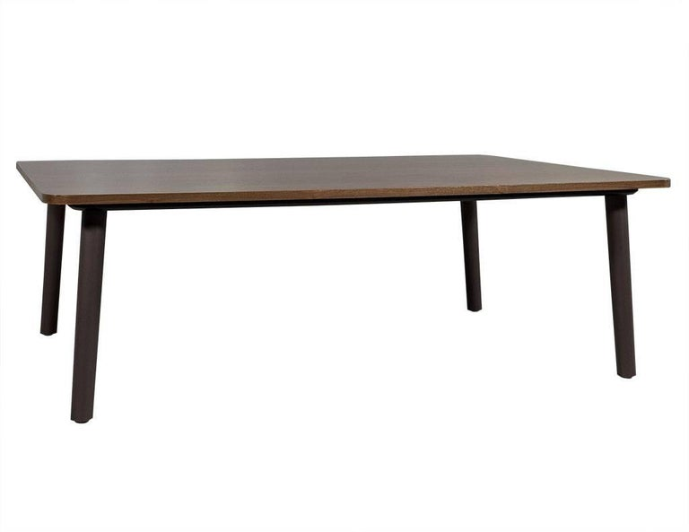 Mid-Century Modern Carrocel Custom Midcentury Style Walnut Coffee Table For Sale