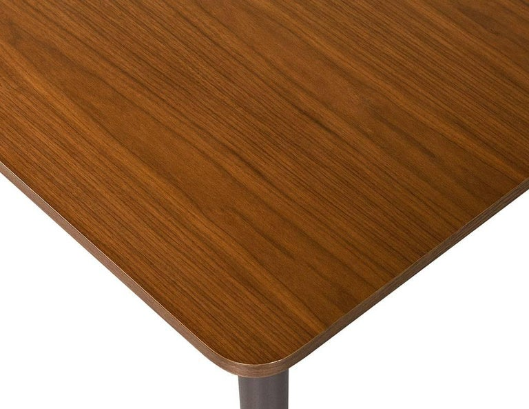 Contemporary Carrocel Custom Midcentury Style Walnut Coffee Table For Sale