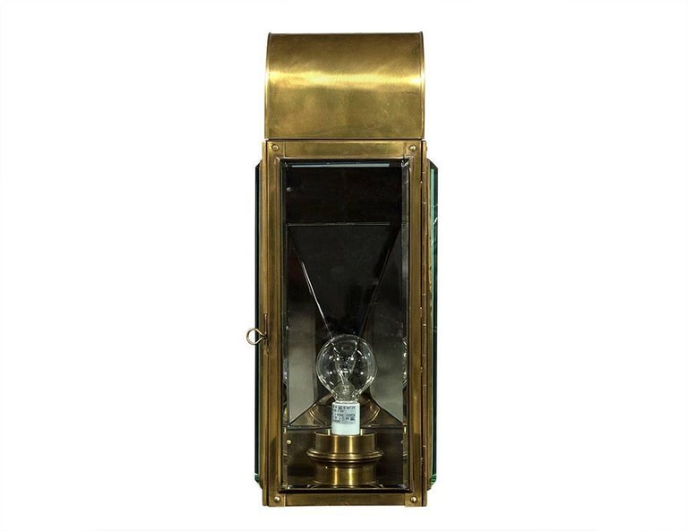 Pair of Classic Brass Wall Sconces For Sale at 1stdibs