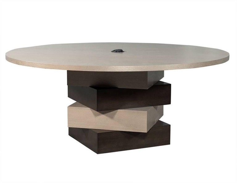 Carrocel Custom Modern Round Dining Conference Table For Sale At Stdibs - Modern round conference table