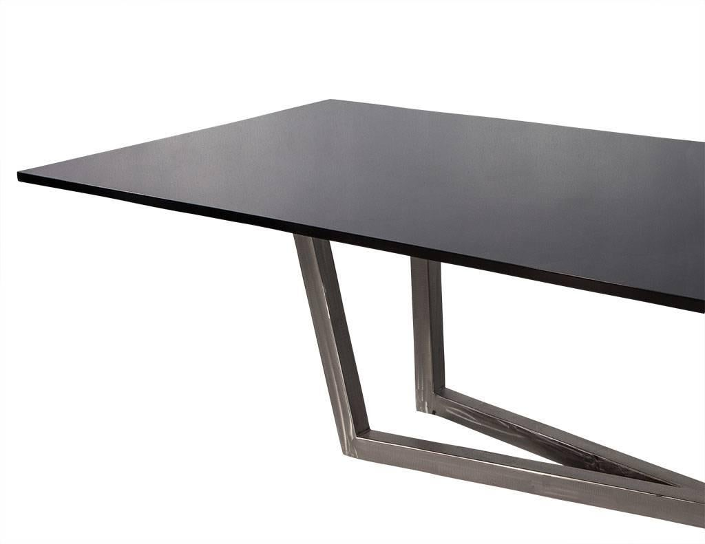 This Sleek And Modern Dining Table Is Part Of The Carrocel Custom  Collection. It Is