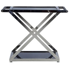 Stainless Steel Dry Bar Console Side Table