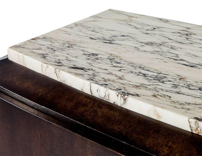 French Art Deco Marble-Top Sideboard For Sale 1
