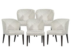 Set of 5 Custom Curved Back Modern Dining Chairs by Carrocel