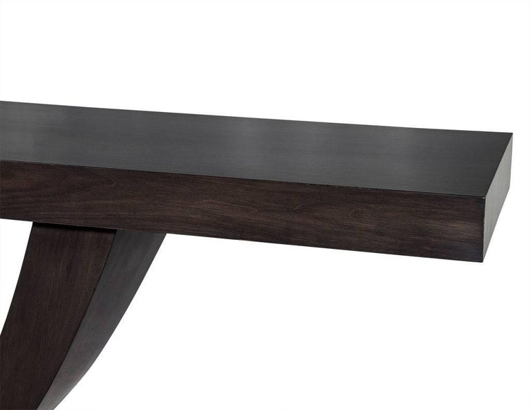 Custom Art Deco Walnut Console Table In New Condition For Sale In North York, ON