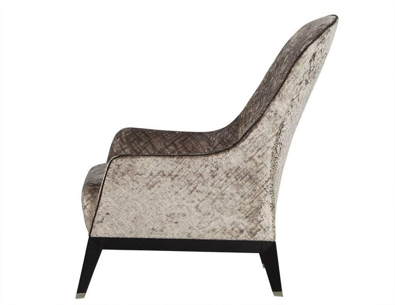 Modern Gorgeous High Back Lounge Chair For Sale