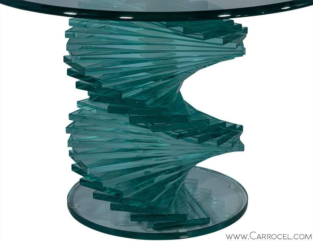 Stacked Glass Sculptural Side Table For Sale At 1stdibs