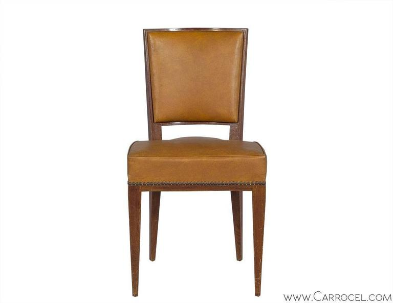 Set of Ten French Art Deco Dining Chairs In Fair Condition In North York, ON