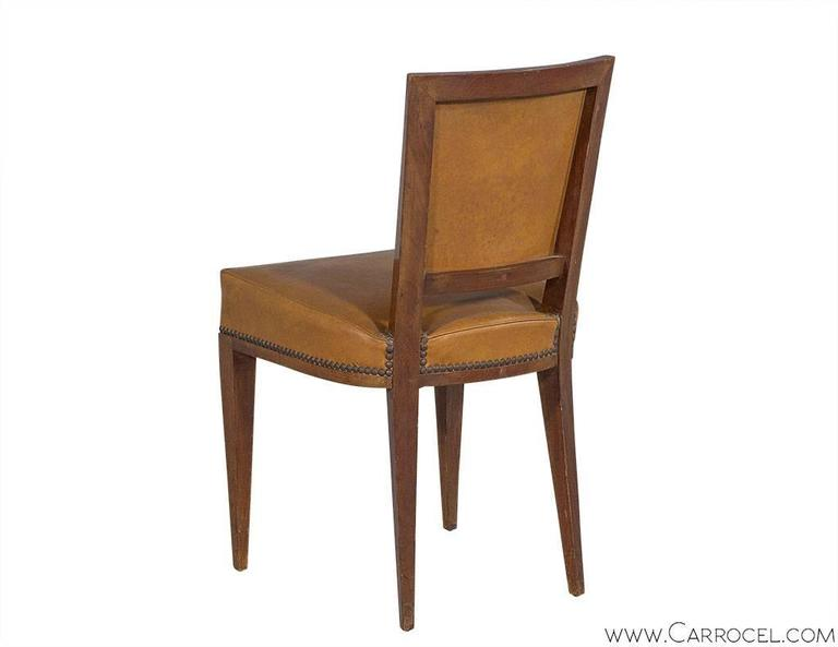 Mid-20th Century Set of Ten French Art Deco Dining Chairs