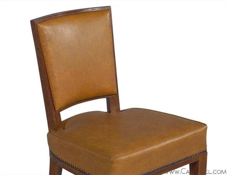 Set of Ten French Art Deco Dining Chairs 1