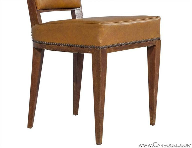 Set of Ten French Art Deco Dining Chairs 2