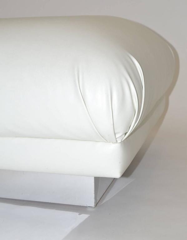 American Pair of Oversized Ottomans or Poufs, 1970s For Sale