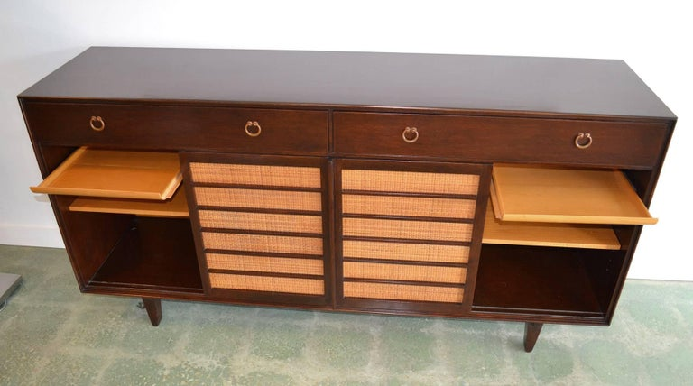 Sideboard Credenza for Dunbar by Edward Wormley Mid-Century Modern Model 671-A In Good Condition For Sale In Ft Lauderdale, FL