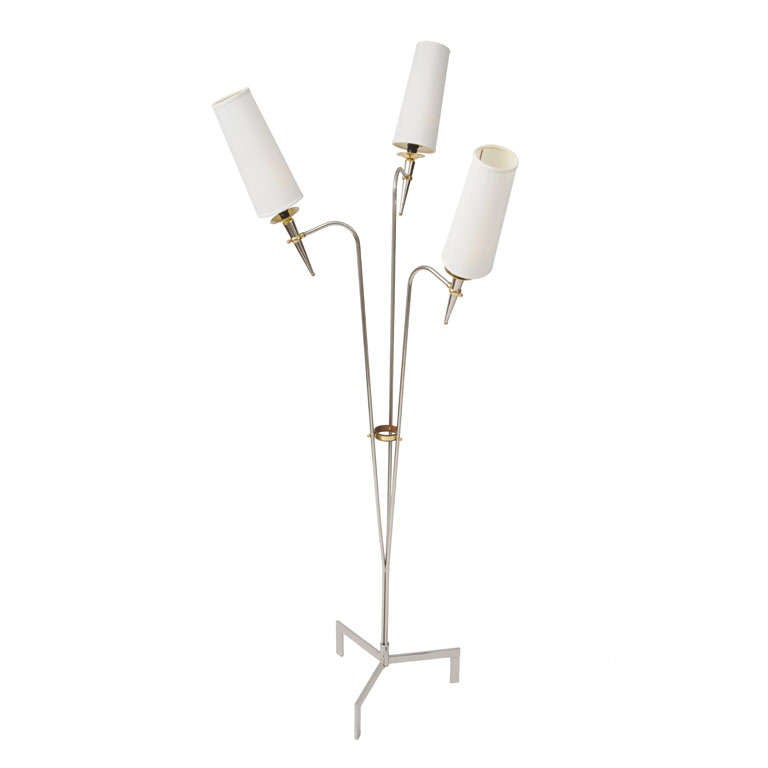 Three-Arm Floor Lamp Fabulous French Design For Sale